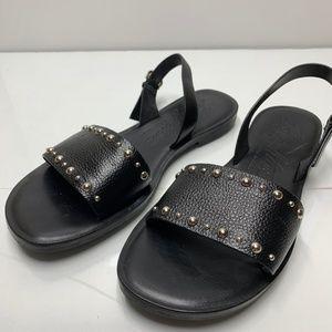 BRIGHTON Women's Black Ankle Buckle Sandals Avril